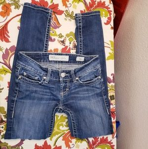 BKE size 25 blue skinny jeans